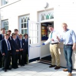 OE Jon Ravenscroft and Principal George Hartley officially open the new maths block