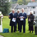 Rev Simon White, Bruce Parker, Lynn Lewis, Rob and Joan Champion and Roy Queripel
