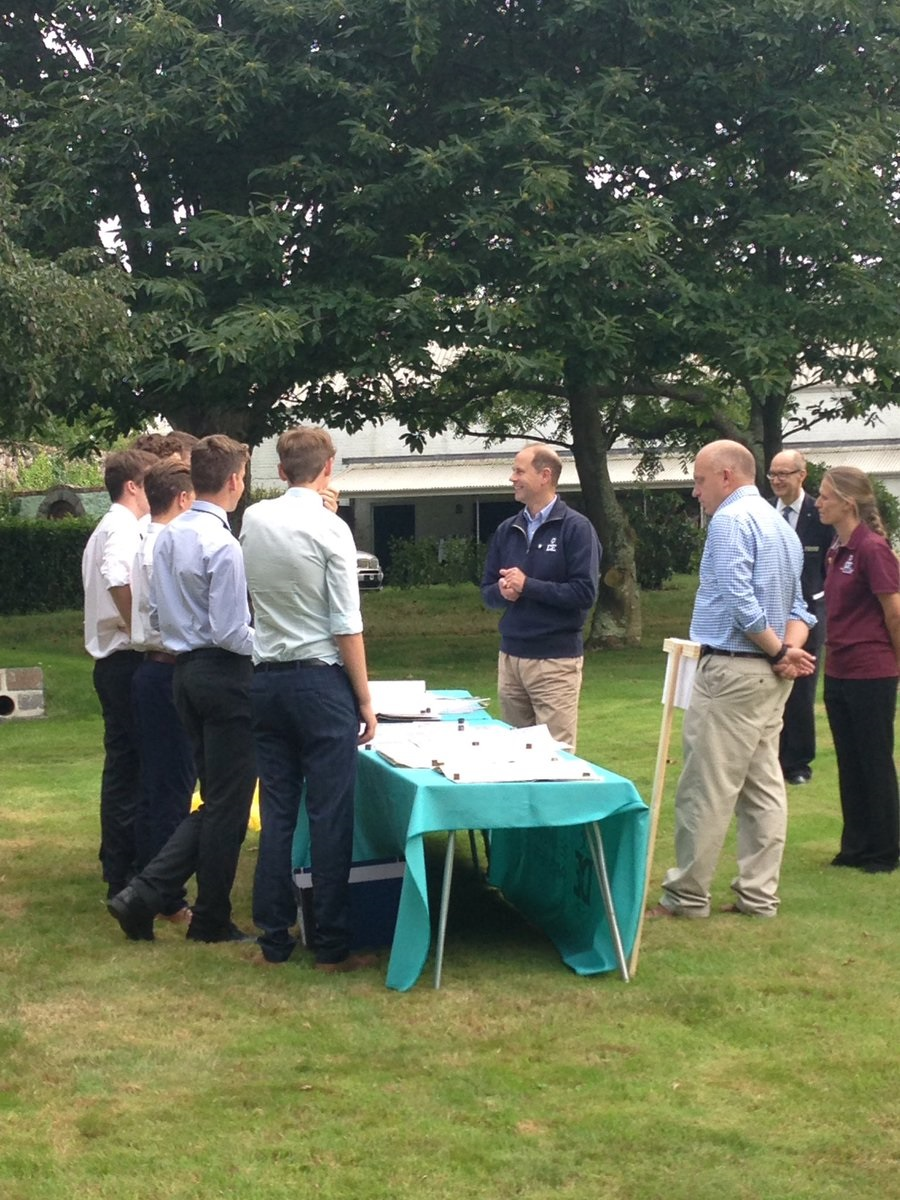 Elizabeth College students meeting Prince Edward